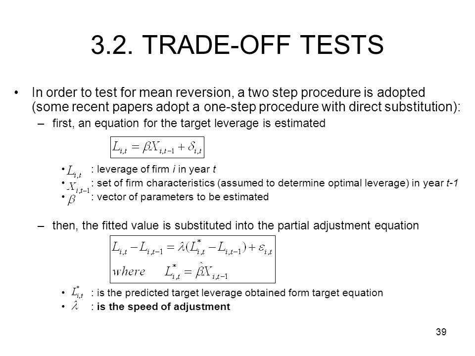 3.2. TRADE-OFF TESTS