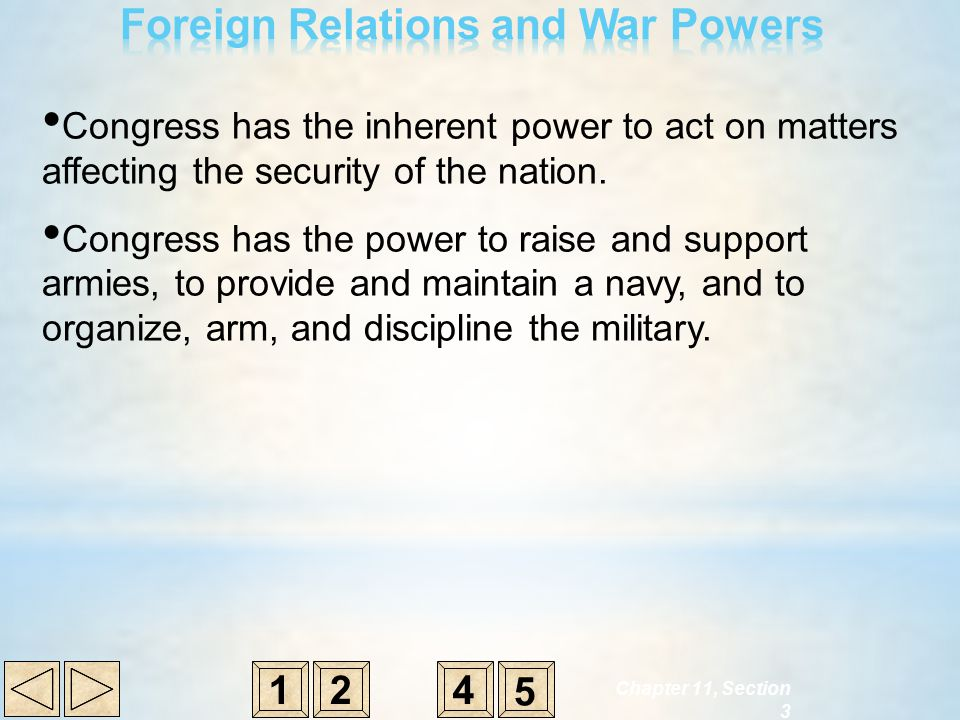 Foreign Relations and War Powers