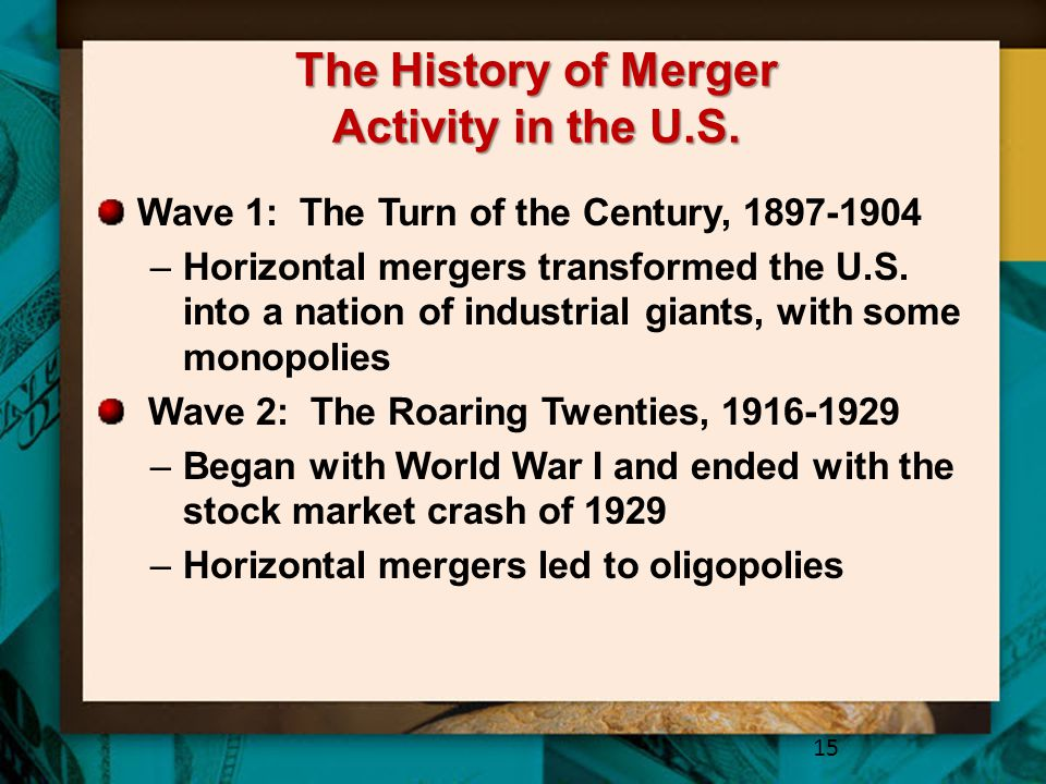The History of Merger Activity in the U.S.