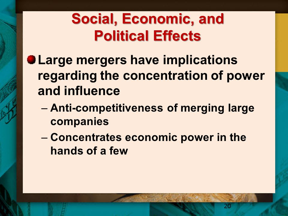 Social, Economic, and Political Effects