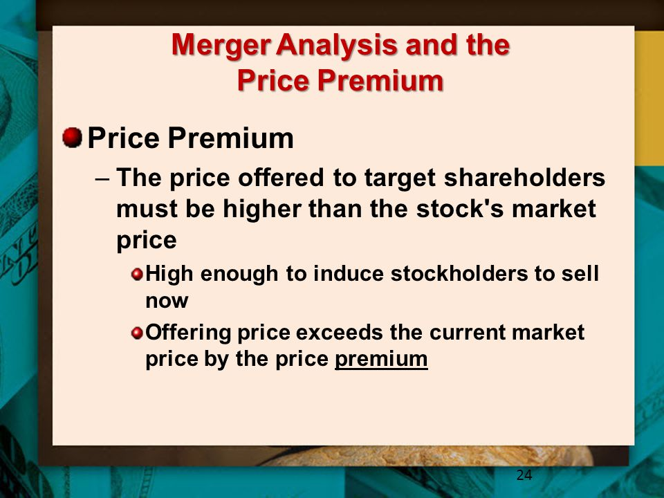 Merger Analysis and the Price Premium