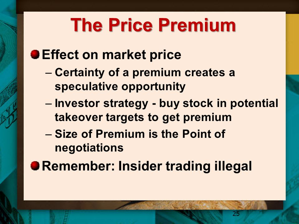 The Price Premium Effect on market price