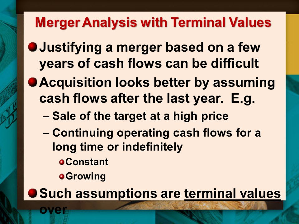 Merger Analysis with Terminal Values
