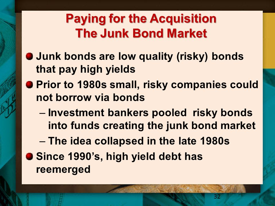 Paying for the Acquisition The Junk Bond Market
