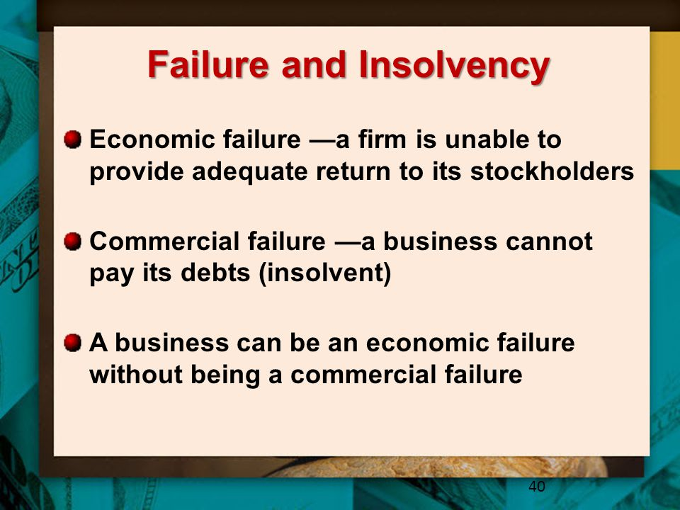 Failure and Insolvency