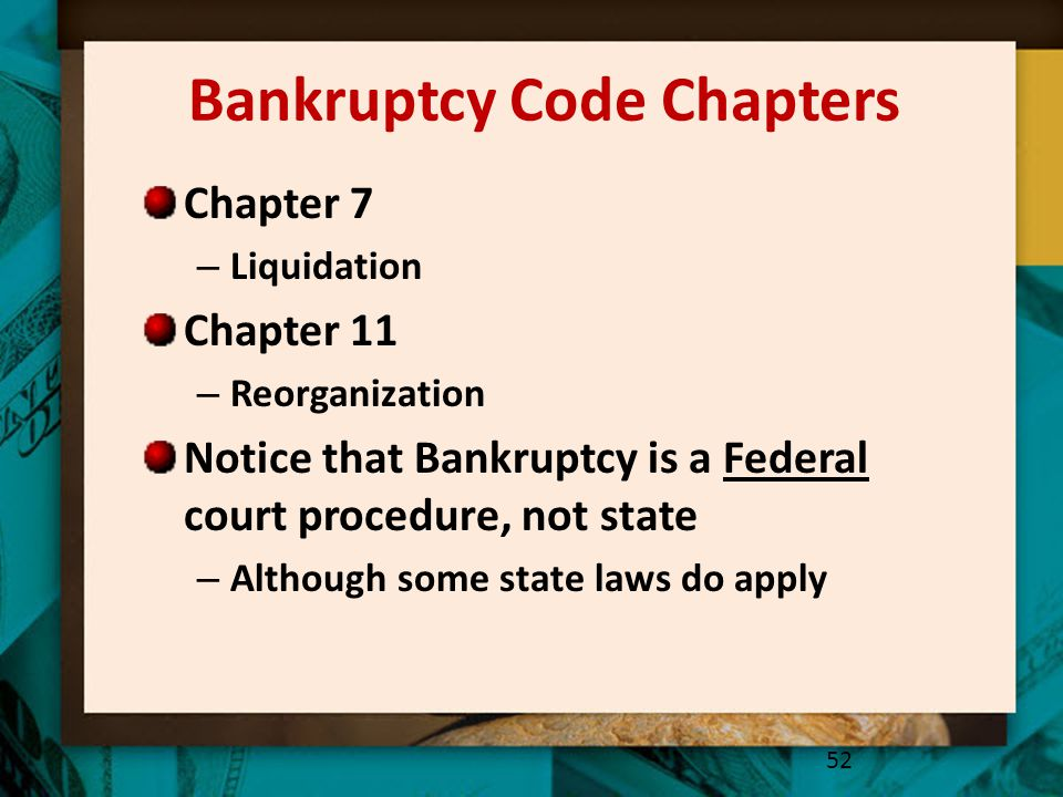 Bankruptcy Code Chapters