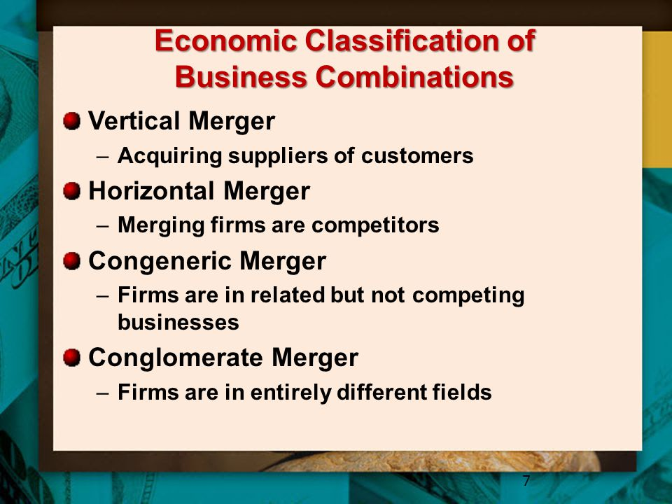 Economic Classification of Business Combinations