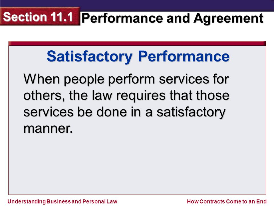 Satisfactory Performance