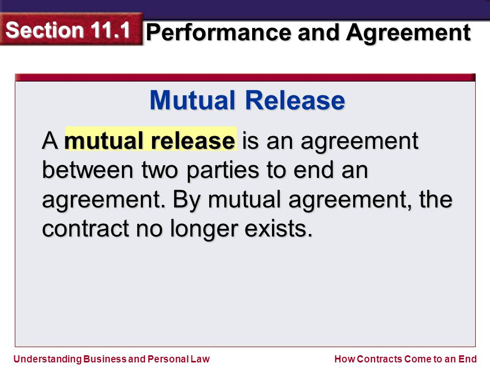 23 Mutual Release A Mutual Release Is An Agreement Between Two Parties ...