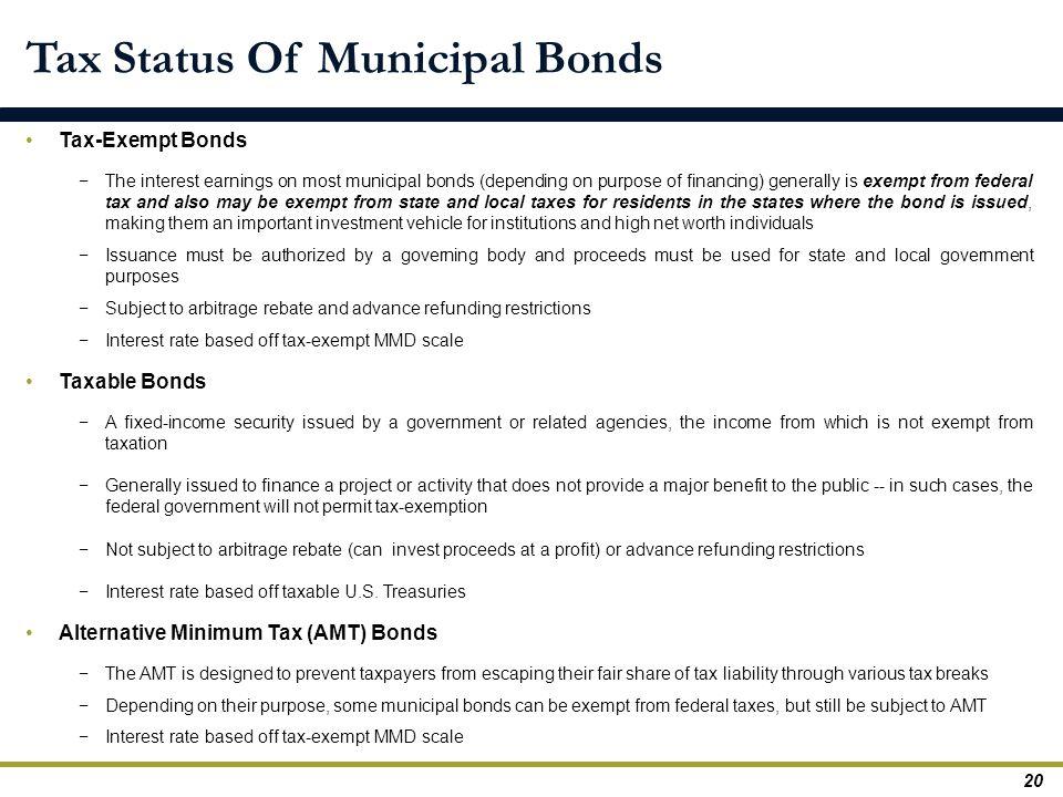 Tax Status Of Municipal Bonds