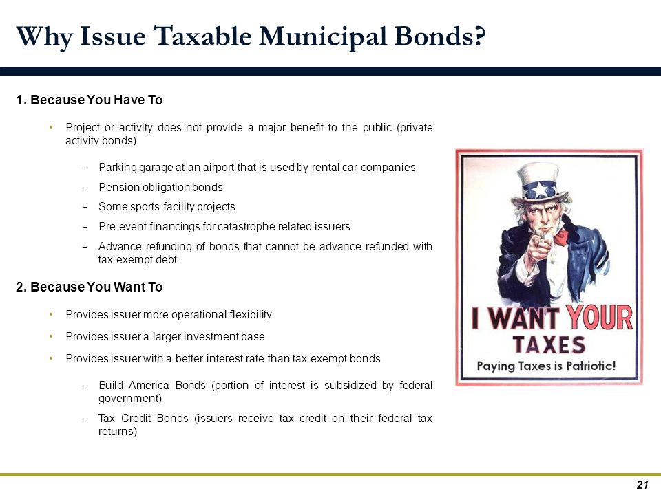 Why Issue Taxable Municipal Bonds
