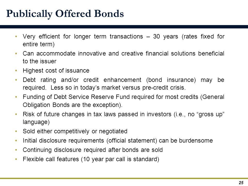 Publically Offered Bonds