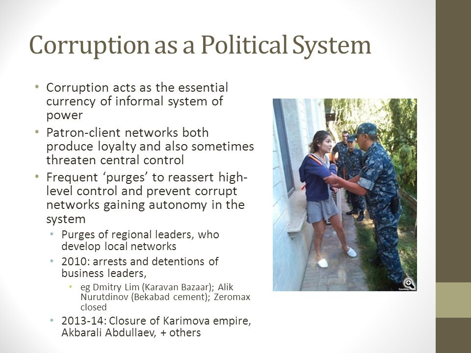 Corruption as a Political System