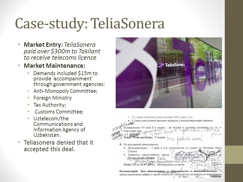 Case-study: TeliaSonera