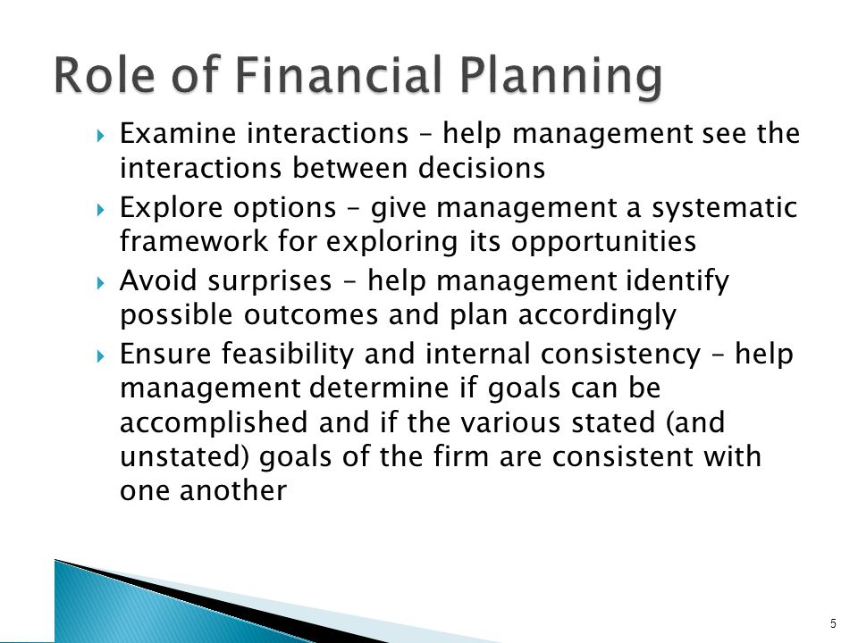2. Financial Planning Model Ingredients