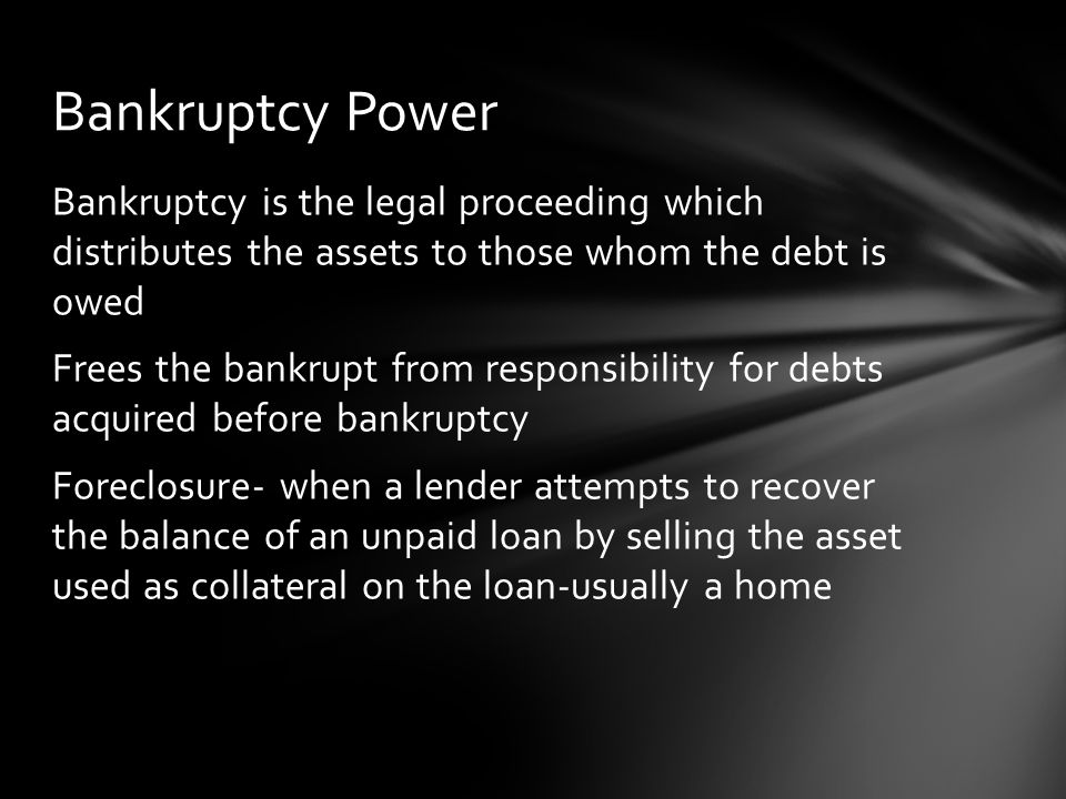 Bankruptcy Power