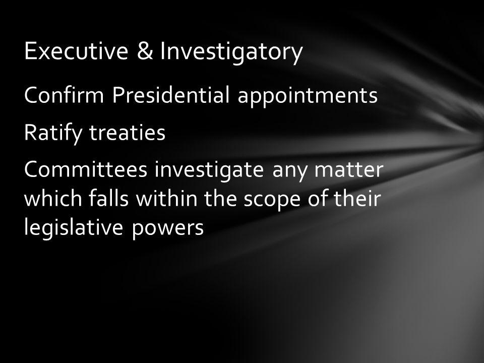 Executive & Investigatory