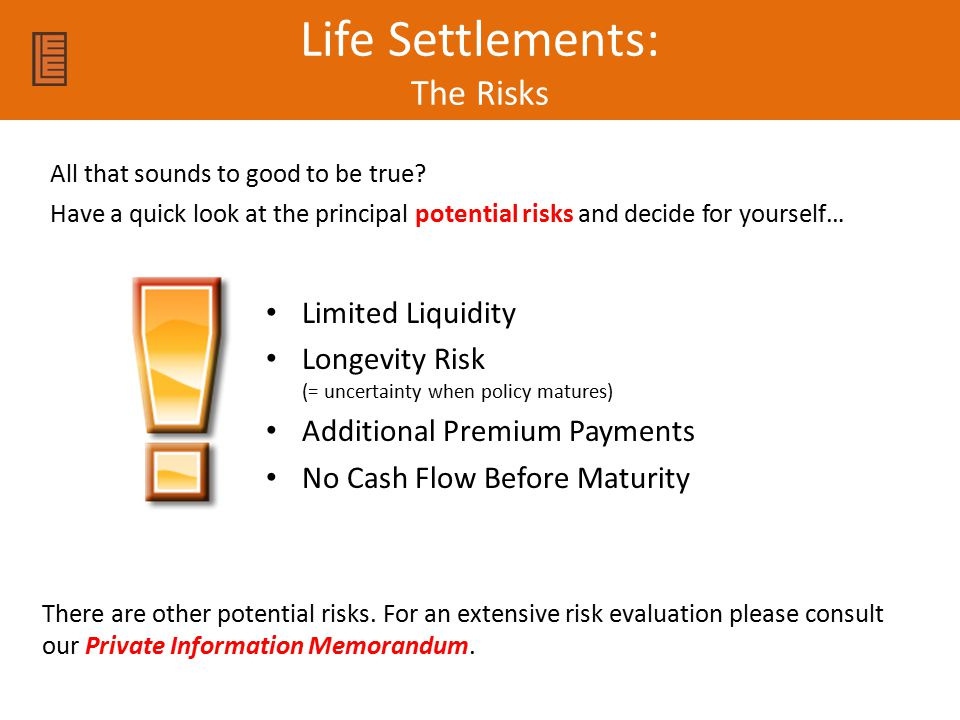 Life Settlements: The Risks