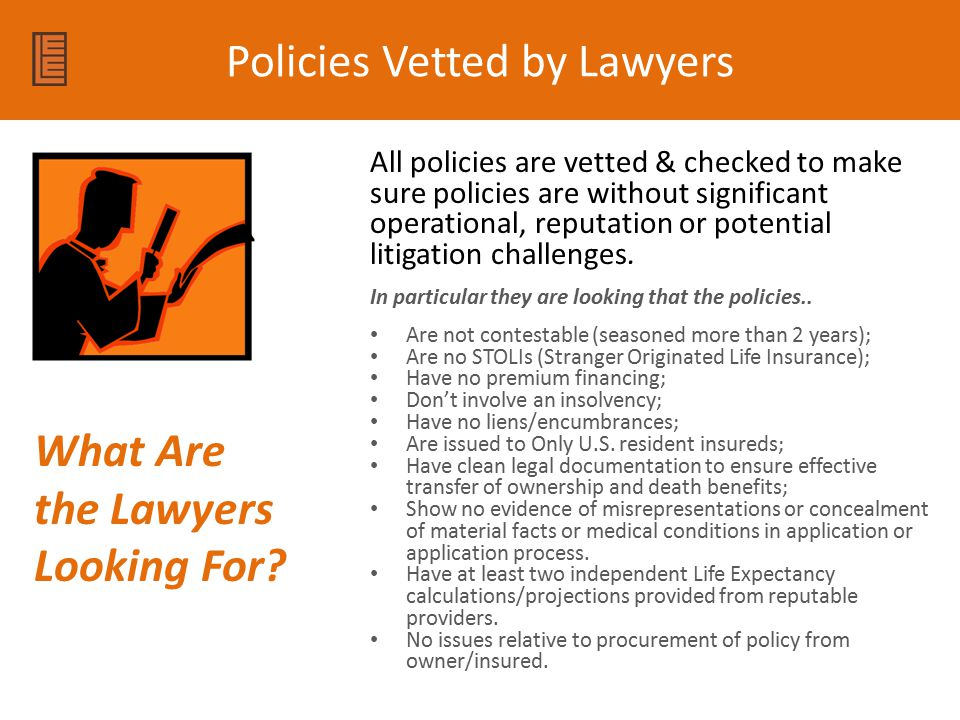 Policies Vetted by Lawyers