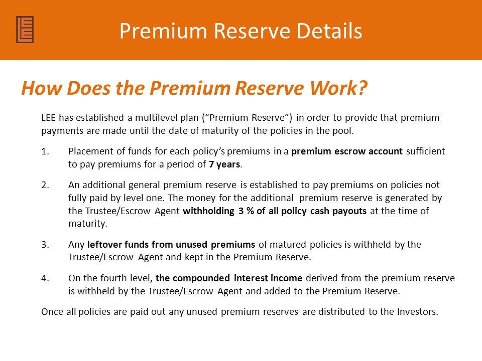 Premium Reserve Details