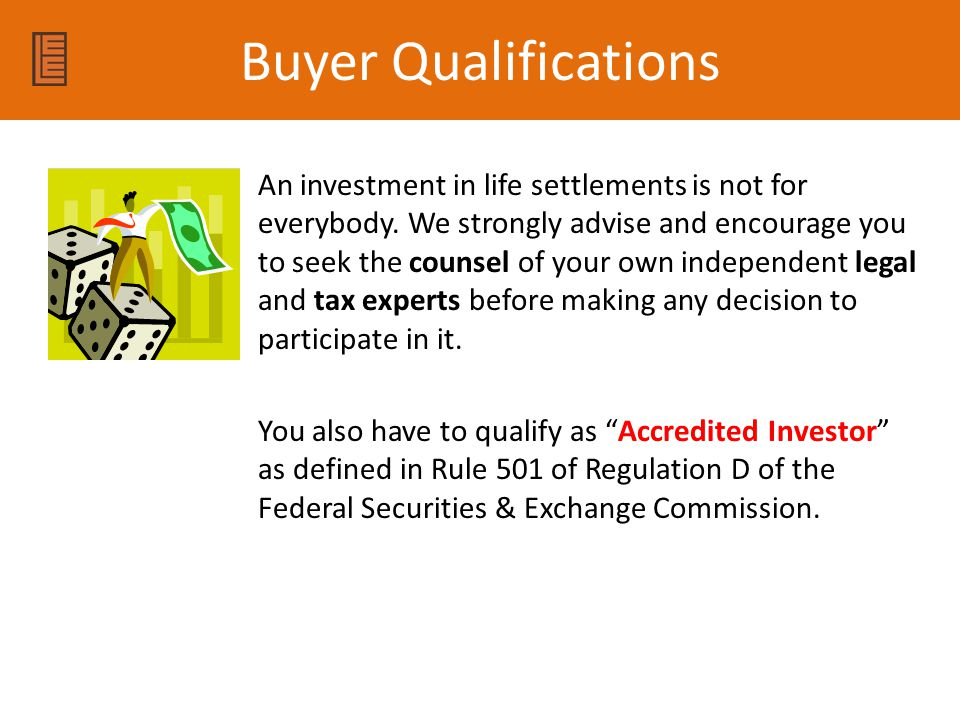 Buyer Qualifications