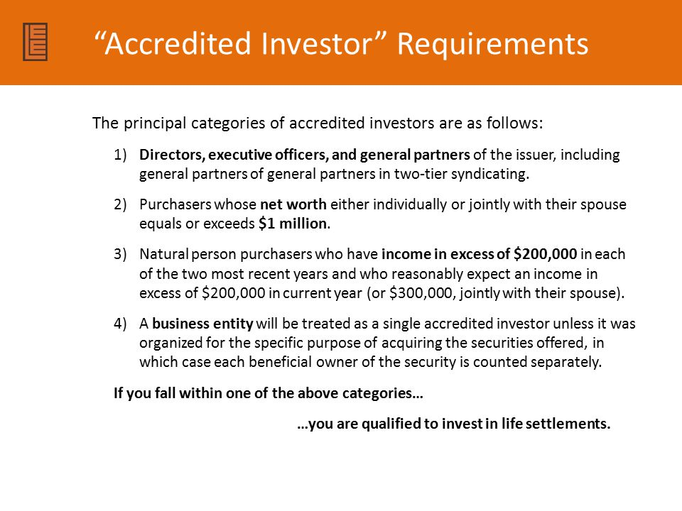 Accredited Investor Requirements