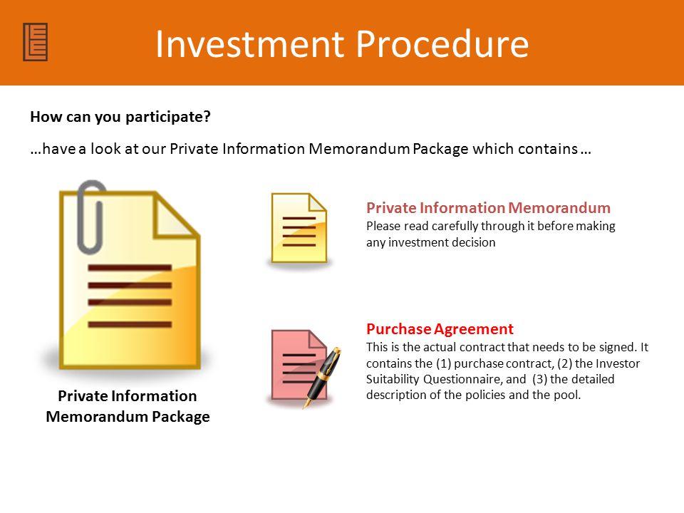 Private Information Memorandum Package
