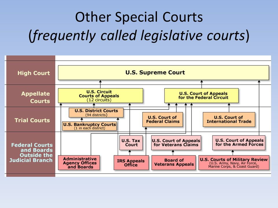 Other Special Courts (frequently called legislative courts)