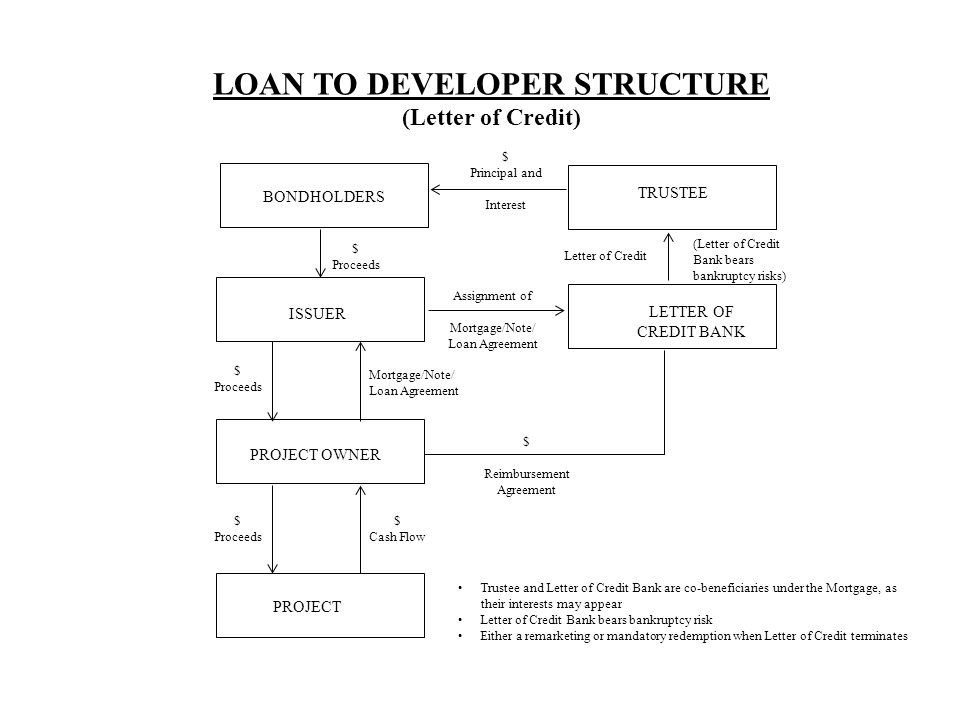 LOAN TO DEVELOPER STRUCTURE (Letter of Credit)
