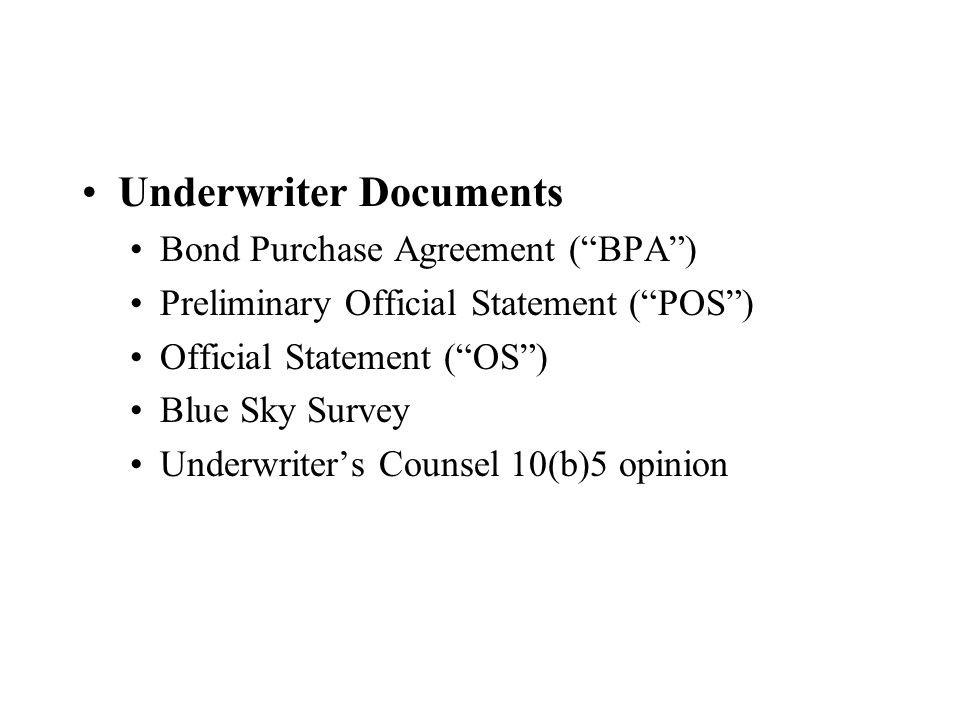 Underwriter Documents
