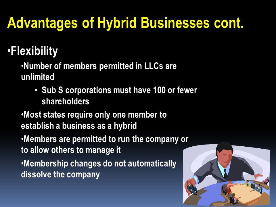 Advantages of Hybrid Businesses cont.