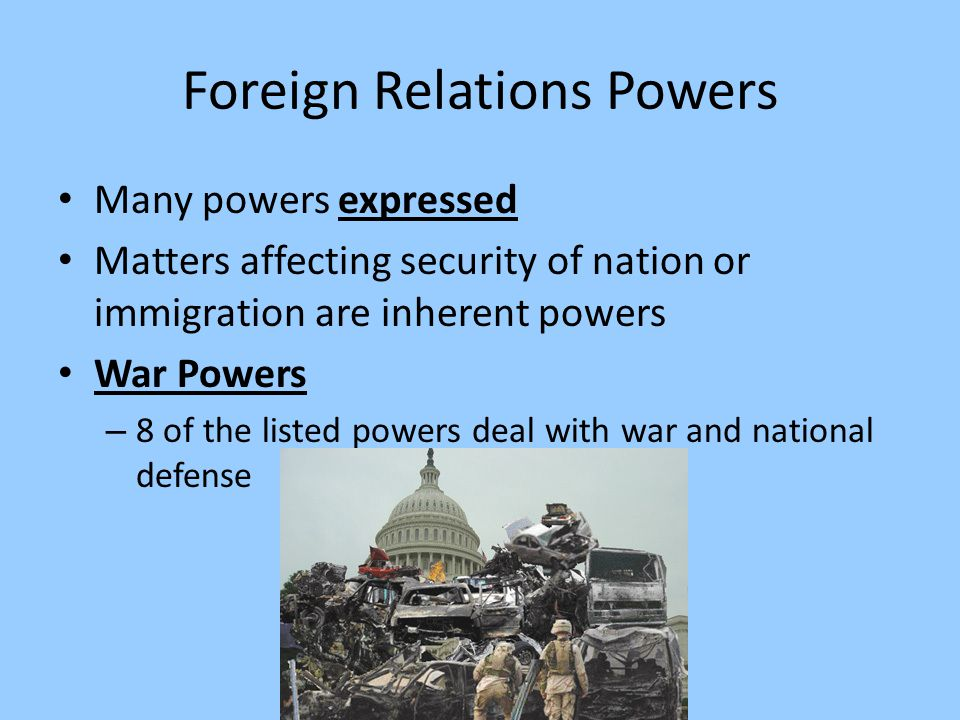 Foreign Relations Powers