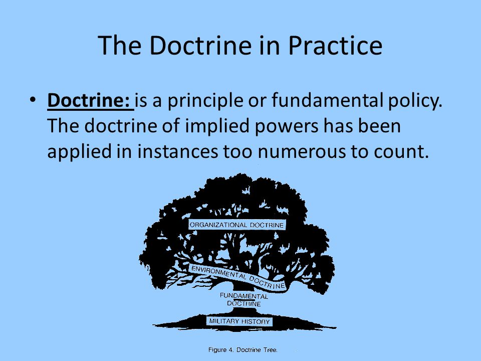 The Doctrine in Practice