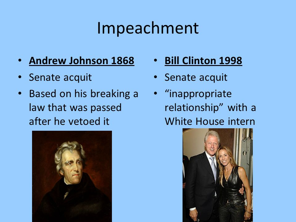 Impeachment Andrew Johnson 1868 Senate acquit