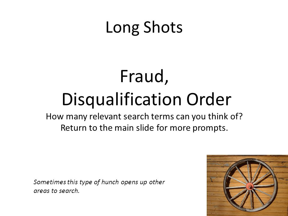 Disqualification Order