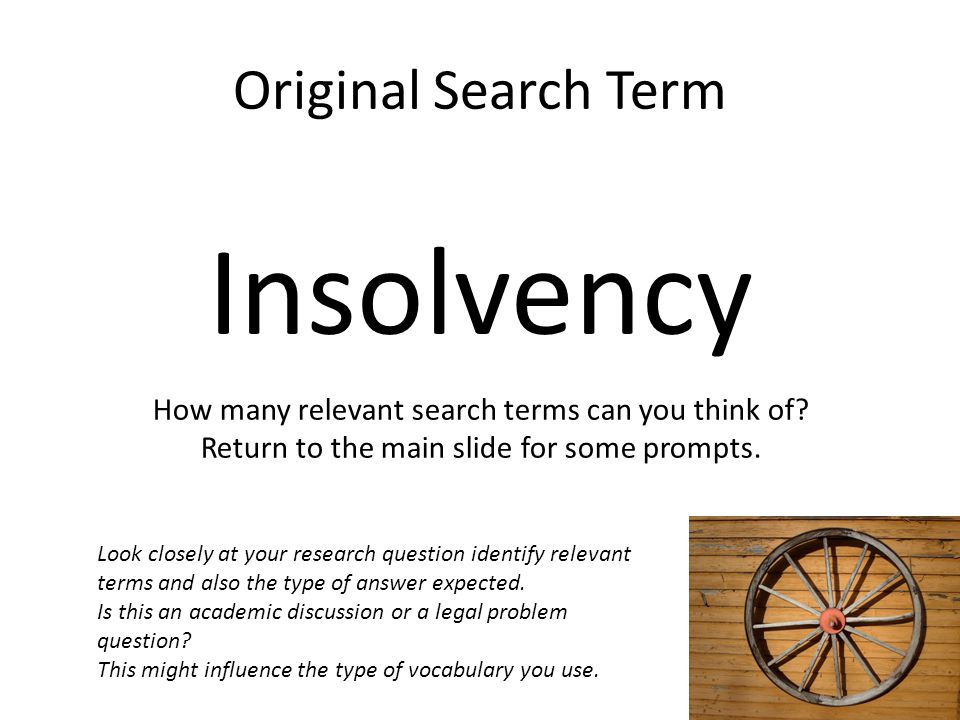 Insolvency Original Search Term