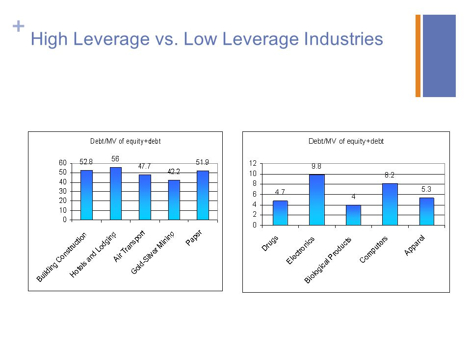 High Leverage vs. Low Leverage Industries