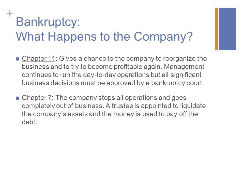 Bankruptcy: What Happens to the Company