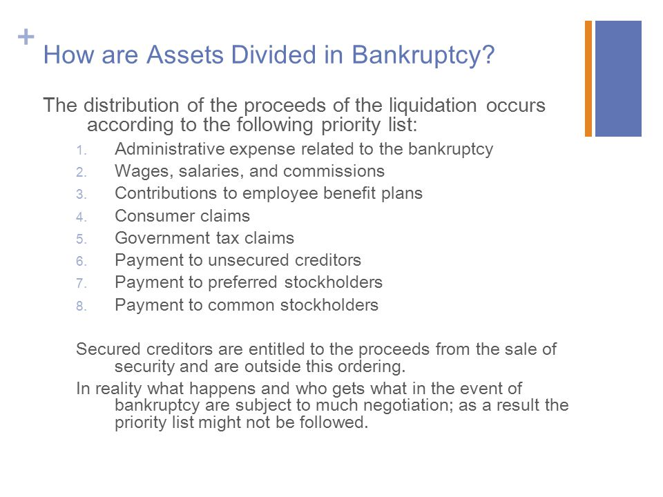 How are Assets Divided in Bankruptcy