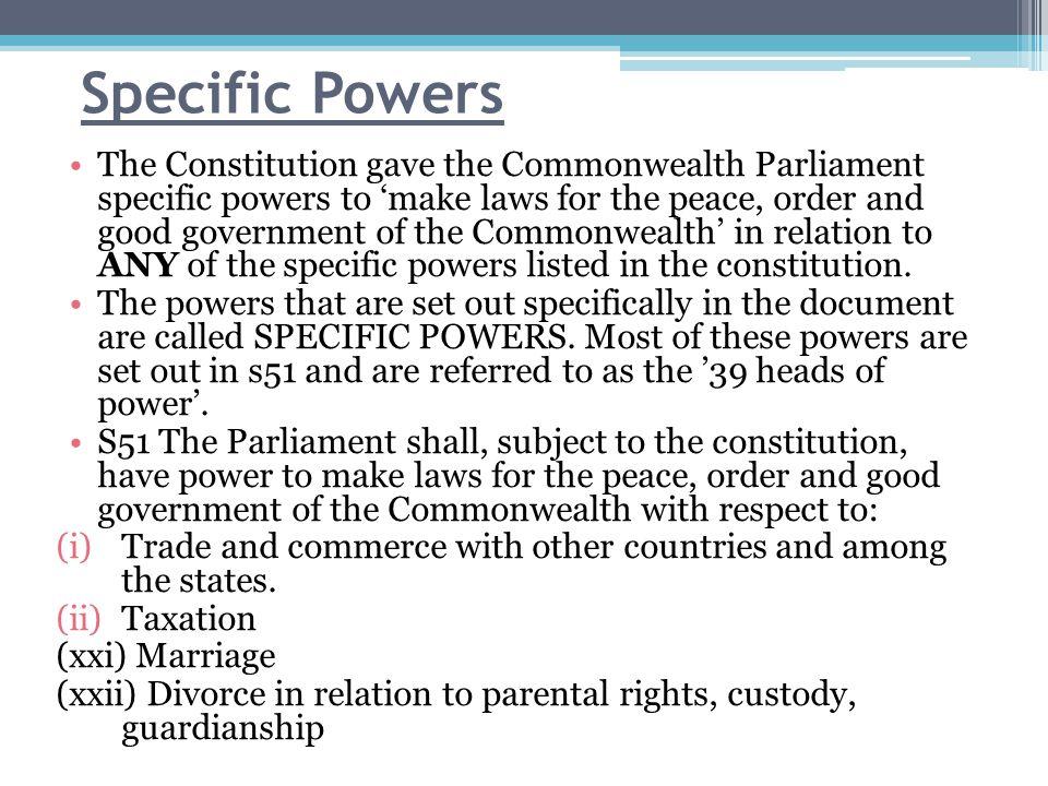 Specific Powers