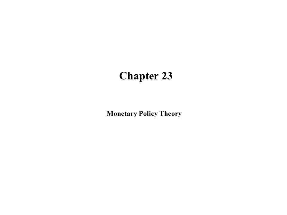 Monetary Policy Theory