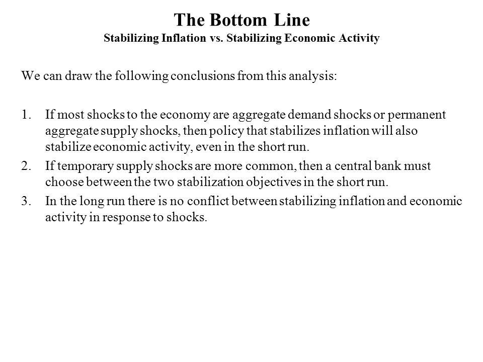 The Bottom Line Stabilizing Inflation vs. Stabilizing Economic Activity