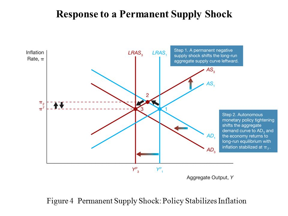 Figure 4 Permanent Supply Shock: Policy Stabilizes Inflation