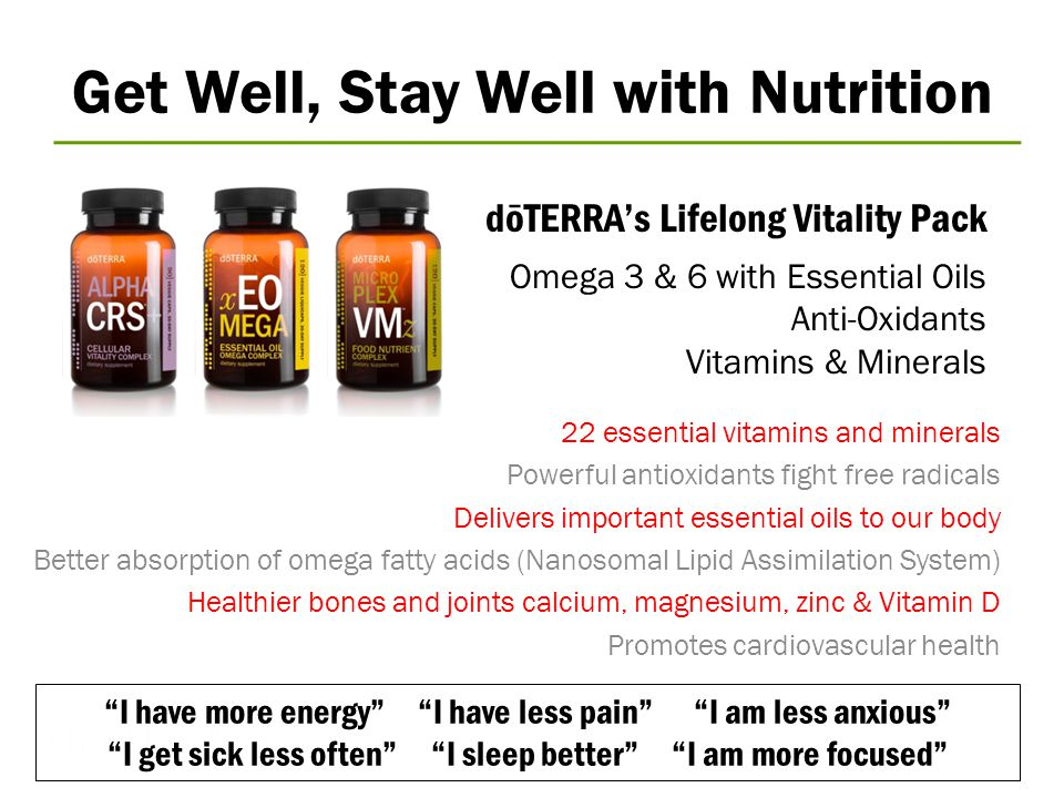 Get Well, Stay Well with Nutrition
