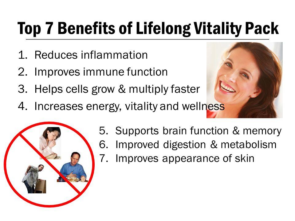 Top 7 Benefits of Lifelong Vitality Pack