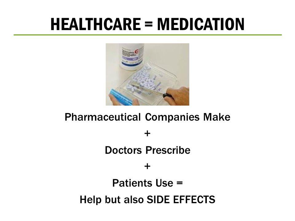 HEALTHCARE = MEDICATION