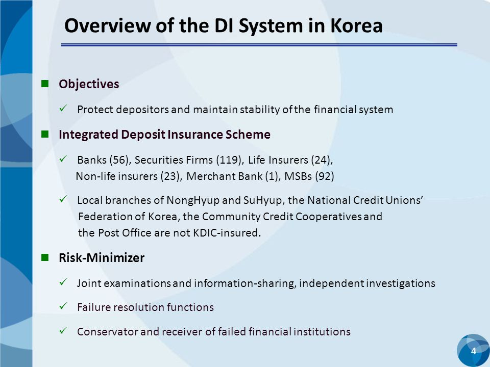 Overview of the DI System in Korea