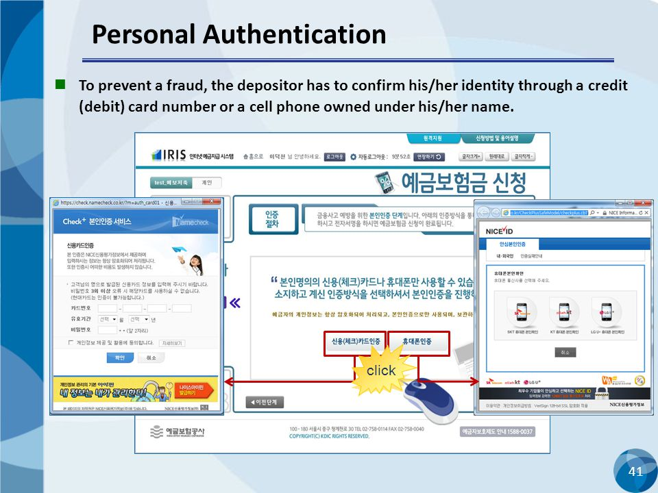 Personal Authentication
