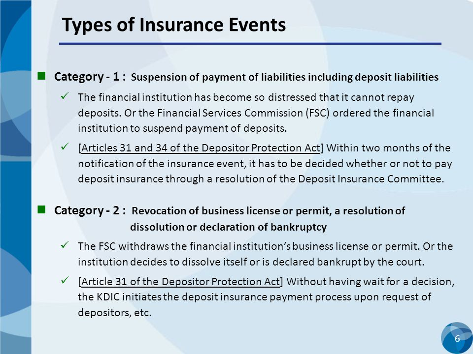 Types of Insurance Events