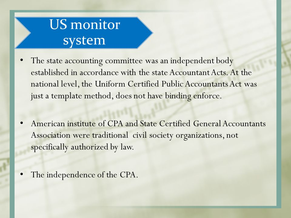 US monitor system